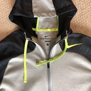 Men's Nike zip-front performance hoodie.